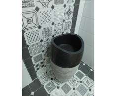 imso piedra natural para lavabo columna Pulido Redondo, Negro
