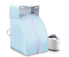 De Vapor portátil Sauna SPA Conjunto Plegable Vapor Pot máquina y Carpa pérdida de Peso Que Adelgaza Terapia Personal Home 2L Cubierta Reduce la Fatiga y desintoxicante,Azul