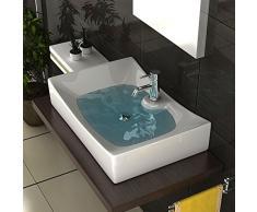 Diseño Lavabo Sin Rebosadero – – Lavabo con Nano – Cerámica Platillos Lotus Efecto – Lavabo – Baño Muebles