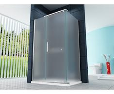 Cabina de ducha Ducha Malta-Frost 100 x 90 x 200 cm / 8 mm / con plato de ducha y sifón