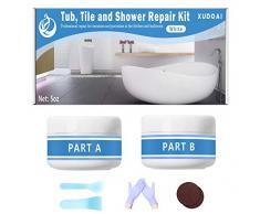 Kit de reparación de bañera, azulejos y ducha, 5oz, color blanco, kit de reacabado para porcelana, acrílico, fibra de vidrio