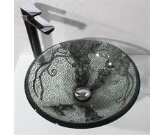 FFJTS Baño de lavabo de vidrio templado en la cuenca (Cuenca única)