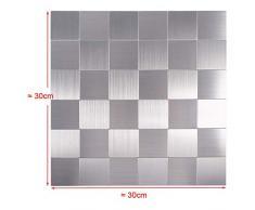 Azulejos de mosaico autoadhesivos de aluminio para pared, baño, cocina, revestimiento de mosaico, 700
