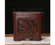 Lavabo grande de cerámica/[estilo chino]/pote de flor púrpura/bonsai/orquídeas en maceta/maceta transpirable-Q