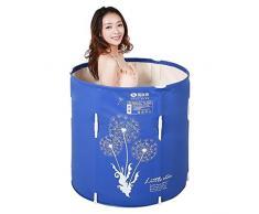CN Tina de bañera Plegable Bañera Tina de baño para Adultos Tina Inflable Libre