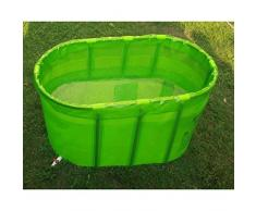 WTL Bathtub Doble No Inflable Bañera Bañera Plegable Bañera Adulto Bañera / Bañera ( Color : Verde )
