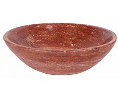 Travertine piedra natural Otoño Rojo Naranja - Lavabo (mármol baño habitaciones 30 cm x 11 cm (B0065)