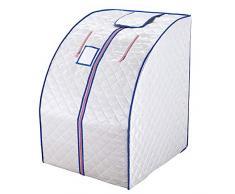 ZFF Portátil Infrarrojo Lejano Sauna De Vapor Plegable Calor Cabina con Placas Calefactoras, Casa Personal SPA para Perder Peso & Eliminar La Toxina (Color : Silver)