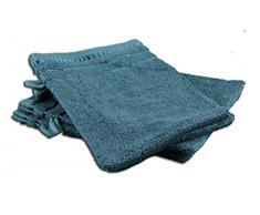 Gözze 101-0000-A1 Berlin - Juego de 4 manoplas de ducha (17/24 cm), algodón rizado, petróleo, 17 x 24 cm