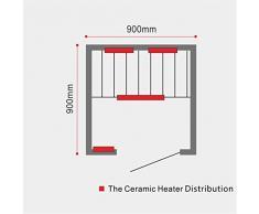 Sola infrarrojos sauna de infrarrojos para 1 persona térmica cabina nuevo con CD Radio 022 Ozono etc.