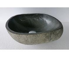 Lavabo en piedra natural, diametro aproximadamente 35 cm