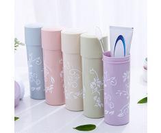 Leisial Juego de Vasos de Viaje Caja de Almacenamiento de Cepillo de Dientes Baño Portátil Accesorios Organizador de Copa Taza de Pasta de Dientes