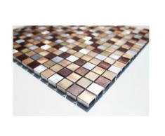 Acero inoxidable de mosaico cristal mosaico de azulejos de pared suelo - alu-mosaico de colores - 1 para
