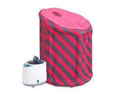 MaquiGra Sauna de Vapor Portátil Inflable 1-9 Temperatura Ajustable Control Remoto inalámbrico Mini Equipo para SPA Material TPU Evaporador ABS y Acero Inoxidable (4L)