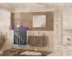MIDI armario Lugano/Como color (estructura): pino antracita, color (front): pino Antracita