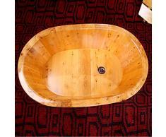 nouler Cedro Baño Tina Niños Bañera Regalo SPA Hotel Hogar,Color de Madera,Un tamaño