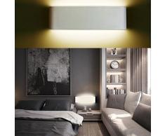XIARU-12W LED Lámpara de pared Interior,Moderna Apliques de Pared,Moda Agradable Luz de Ambiente ,perfecto para Lámpara de Decoración para, AC85-265V, Longitud 28.5cm,Blanco Cálido