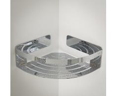 Tiger Caddy Cesta y Rinconera de Ducha, Acero Inoxidable, Cromo, 18,4x7x18,4 cm