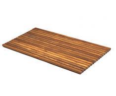 AsinoX TEK4H7100 - Tarima de ducha y baño flexible, madera de teca