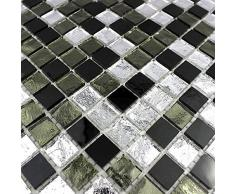 azulejos de mosaico cocina y baño mv-glo-ner