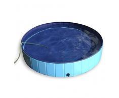 Jasonwell®Piscina de baño plegable para perro mascota, bañera colapsable para perro mascota para perros y gatos (L)