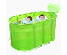 GLokpp Adultos bañera Plegable, portátil Bathtubfor plástico, Piscina for niños, Independiente Tina de baño no Inflable Hielo Bañera, Engrosada Espuma térmica for Mantener la Temperatura (Color : A)