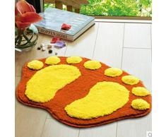 HuntGold 1X pies grandes Printing Sports para puerta de baño que absorbe de alfombra (amarillo) 60 * 40 cm