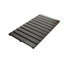 Ridder 21107238 Grating - Alfombra de baño de madera (38 x 72 cm), color marrón oscuro