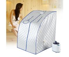 TMISHION Jarrón portátil para Sauna, Cabina para Sauna, bañera para Sauna, Cuerpo para el Rostro Que Adelgaza, Tienda para Sauna a Vapor 2 L para salón, Temperatura Mando a Distancia