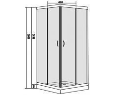 Cabina de ducha 3913 800 x 800 x 1950 mm, con ducha bañera color blanco