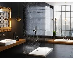 Galdem ducha bañera 100 x 80 x 5,5 cm rectángulo rectangular plano bañera ducha Taza de acrílico de alta calidad para mampara de ducha cabina