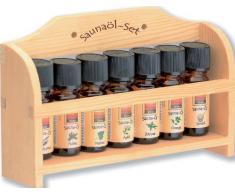 Aceite de sauna-Set-pequeño, 7 x 10 ml Aceite de sauna madera con varios colores