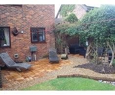 36 x madera Decking azulejos Acacia madera easimat. Patio, jardín, balcón, jacuzzi. 30 cm cuadrado azulejo de la cubierta