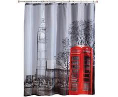 MSV Londres - Cortina de baño, 180 x 200 cm, poliéster, multicolor