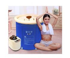 Sauna Baño doble plegable barril baño barril adulto bañera bañeras de aire , blue , 75*75cm