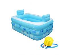 WTSW Bañera plegable Aumente el espesamiento del baño adulto Bañera de plástico de la burbuja Bañera inflable, barril del baño