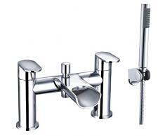 ENKI cascada grifo mezclador para bañera con ducha de mano – baño Niagara