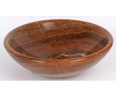 Amarillo/Marrón Efecto Madera Piedra - Lavabo (mármol baño habitaciones 40 cm x 13 cm (eb1007p-b0057)