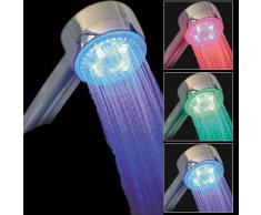Générique - Alcachofa de ducha con luces LED de 3 colores sensibles a la temperatura