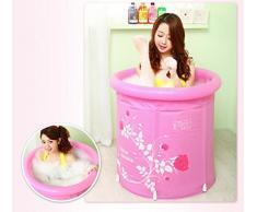 XLHGG Plegable Sauna Box adulto plegable baño de ducha de PVC inflable , pink
