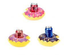 babysbreath17 Donut Inflable Bebida Puede portabebida Bañera de hidromasaje Piscina al Partido baño de sosa Coaster Botella 1 21 * 20 * 8cm
