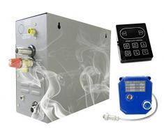 YJINGRUI 5KW Generador de baño de vapor Inicio Ducha de vapor Sauna Generador de vapor para ducha/Sauna Bath/Home SPA 5m3 / con conservación de calor/autodrenaje 220V-240V 50 / 60HZ (KS-120)