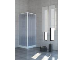 Cabina de ducha con puertas plegables - PVC - - 70 x 100 cm 2 lados