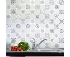 Ambience-Live - Lote de 60 azulejos adhesivos para la pared, diseño que imita cemento, 20 x 20 cm