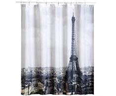 MSV Paris - Cortina de baño, 180 x 200 cm, poliéster, multicolor