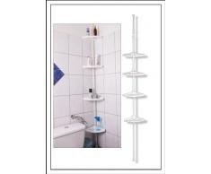 Spetebo - Estantería de esquina para ducha (altura regulable de 110 a 250 cm)