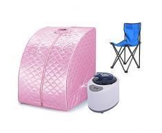 Portátil Sauna de Vapor Spa en Casa y Silla Pérdida de Peso Adelgazamiento Baño Interior Belleza (Rosa)