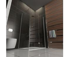 Cabina de ducha/ducha cuadro gimnasio/marco para cabina de ducha/ducha x 120 x 80 x 200 cm/claro cristal de seguridad/Alpes Berger/modelo Terri Clear/altura de la ducha x 200 cm/ducha