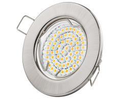 Foco LED GU10 empotrable   Blanca Cálida - Blanco Frío   3W 230V   Focos de Techo