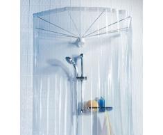 Spirella colección Ombrella, Cabina baño (Cortina y Estructura), 100% PVC, Transparente, 200 x 170